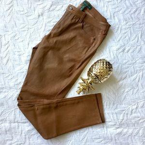 NWT LRL Lauren Jeans Co. Lamb Leather Pants
